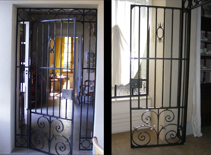 xixth century separating gate french ironwork provence traditional contemporary. Black Bedroom Furniture Sets. Home Design Ideas